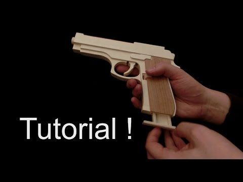 Tutorial Video! It's Fun To Make This M9 Rubber Band Gun Which Is Made Of Wood And Use The Handle As Tiny Storage For Rubber Band. - You Love DIY