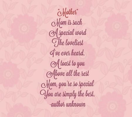 Funny Mothers day Rhyming Poems
