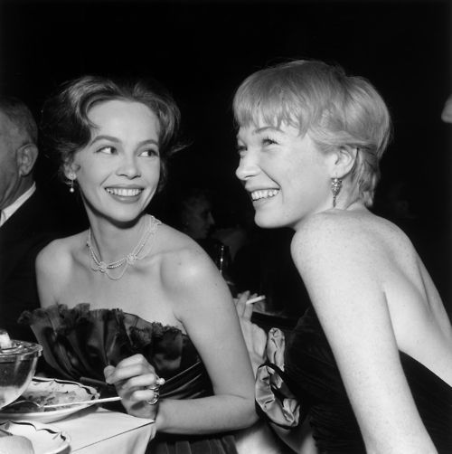 Leslie Caron and Shirley MacLaine looking way too cute, 1950s