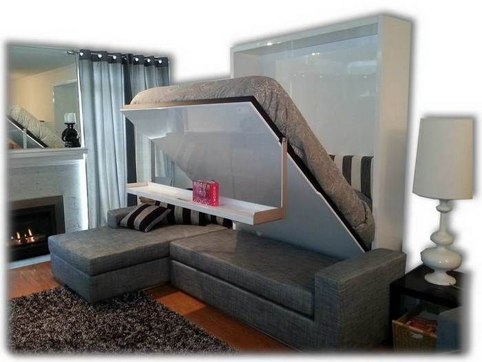 modern murphy beds bedroom with fireplace design also