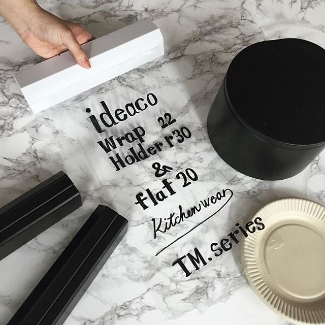 Gathering ideaco kitchen items! #ideaco#stylish#instagood#instacool#kitchen#wrap#plate#trash#イデアコ#キッチン雑貨