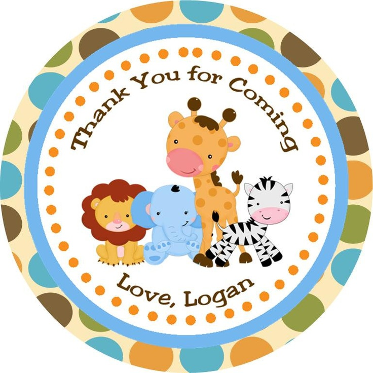 Safari Jungle - Buy 2 Get 1 FREE - Thank You Gift Tags - DIY PRINTABLE Personalized Party Decorations. $5.00, via Etsy.