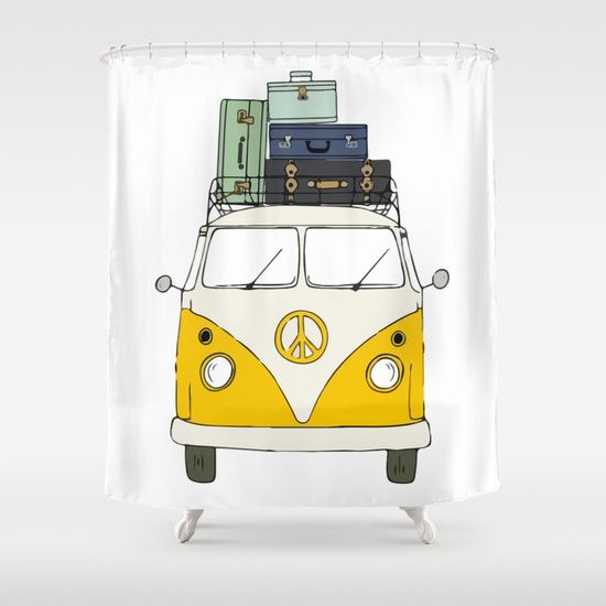 Car yellow Shower Curtain by Gaiadesign. Worldwide shipping available at Society6.com. Just one of millions of high quality products available.