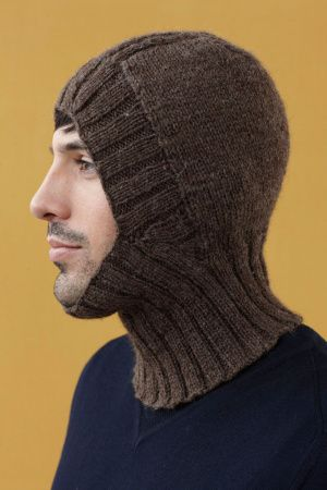 Free Knitting Pattern: Helmet Liner/Balaclava from Lion Brand Yarns. Try smaller knitting needle & use smaller (finer) weight of yarn to shrink the Balaclava for a child's Balaclava.