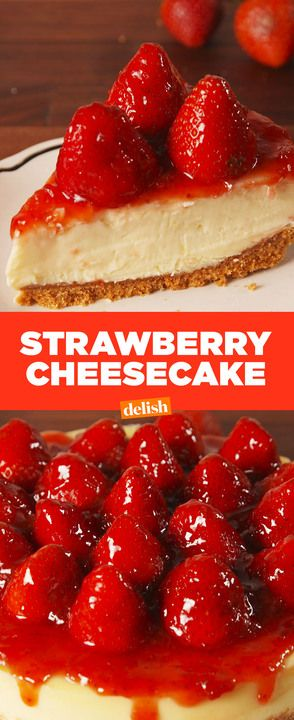 No diner can make a strawberry cheesecake as sexy as ours. Get the recipe from Delish.com.