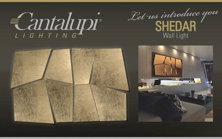 The lighting solution made by Cantalupi Lighting has aluminum panels covered in gold leaf, emitted LED lighting flux running from the back over the leaves to the front. The body of the wall lamp is made of wood , it is like a sculpture light able to modify, thanks to its adjustable panels.