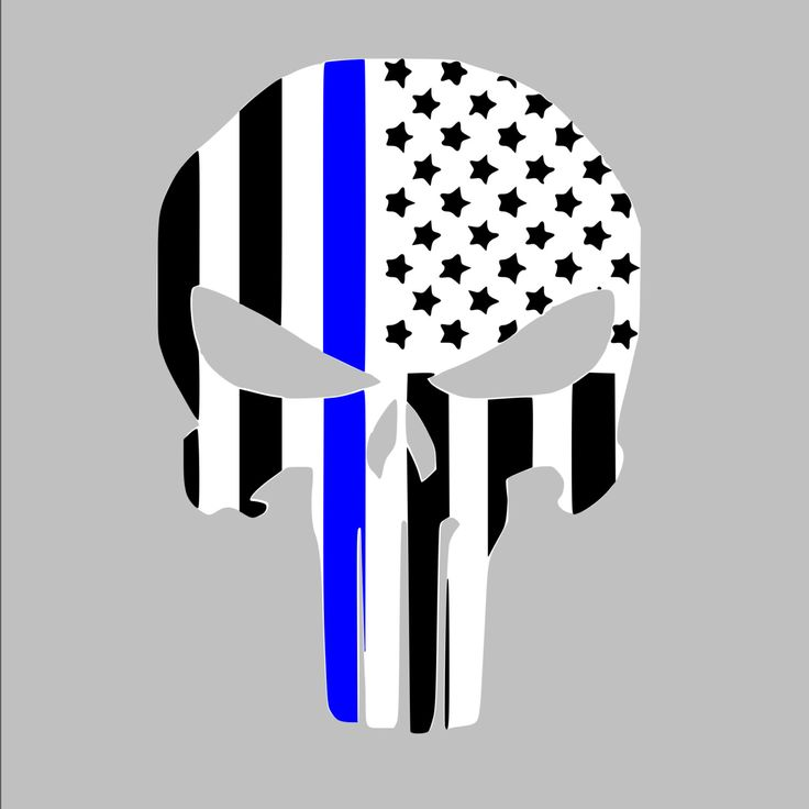 Thin Blue line American Punisher Law Enforcement Car, Window, Wall Vinyl Decal by SouthernPrideDecals on Etsy https://www.etsy.com/listing/239474349/thin-blue-line-american-punisher-law