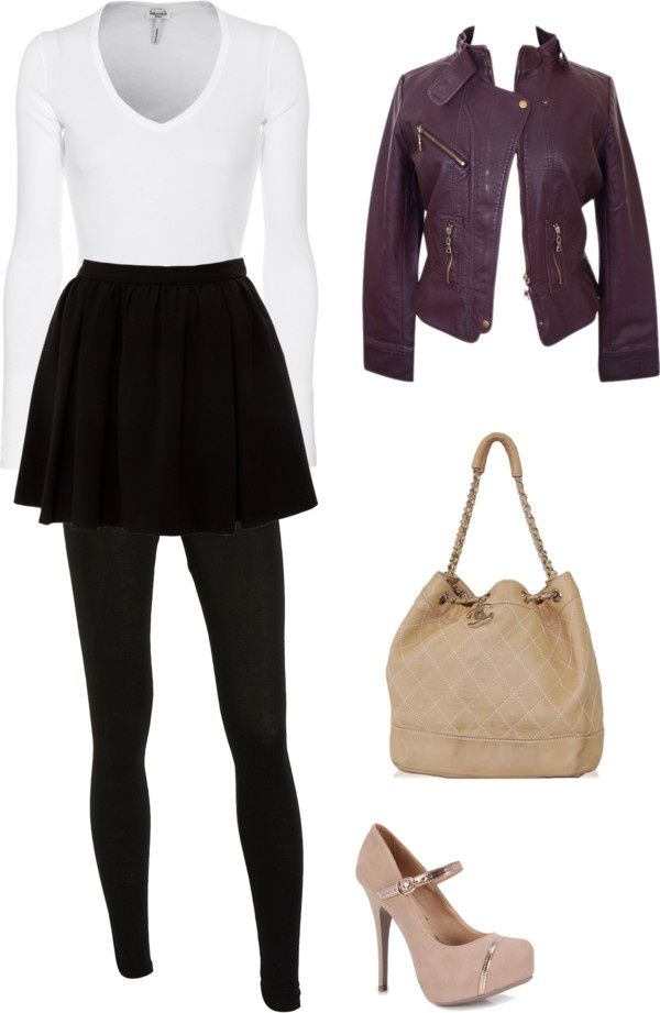 """""""Chilly Fall Night Out"""" by keraashley on Polyvore"""