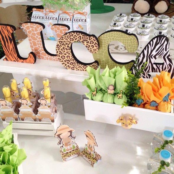 Detalhes lindos de uma festa com o tema Dia de safári - Crescer | Temas