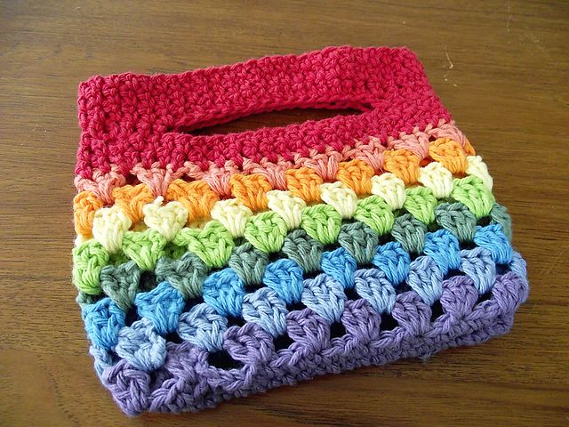 Ravelry: ClaireJones' Rainbow Striped Bag