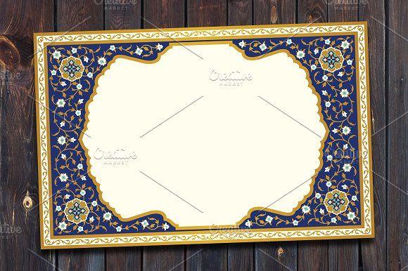 Arabic Floral Frame by Azat1976 on @creativemarket