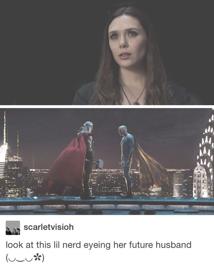 I was thinking the same during this scene lol.<<same :P I hope they include the Wanda/Vision relationship in Civil War