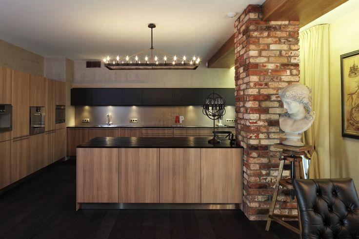 Фото интерьера кухни квартиры в современном стиле
