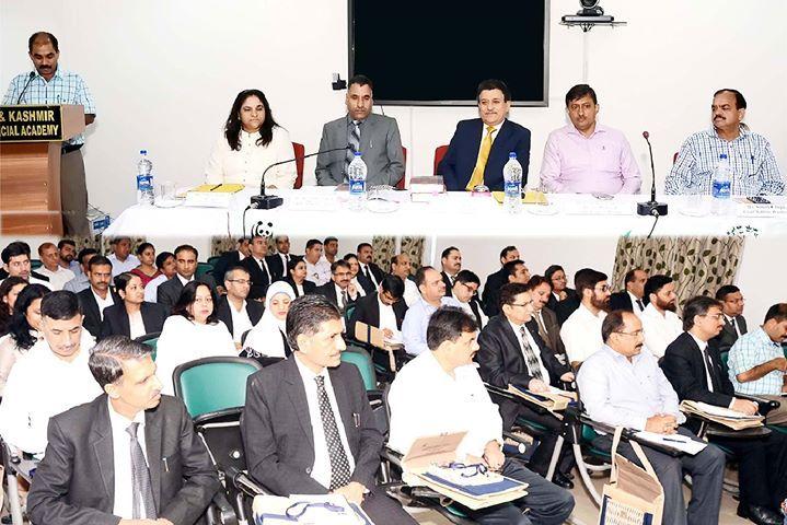 Justice Janak Raj Kotwal chairing two-days Orientation Programme at Jammu.