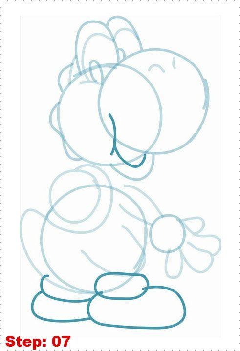 Phoenix Sweat: Cómo dibujar a Yoshi / Draw Yoshi