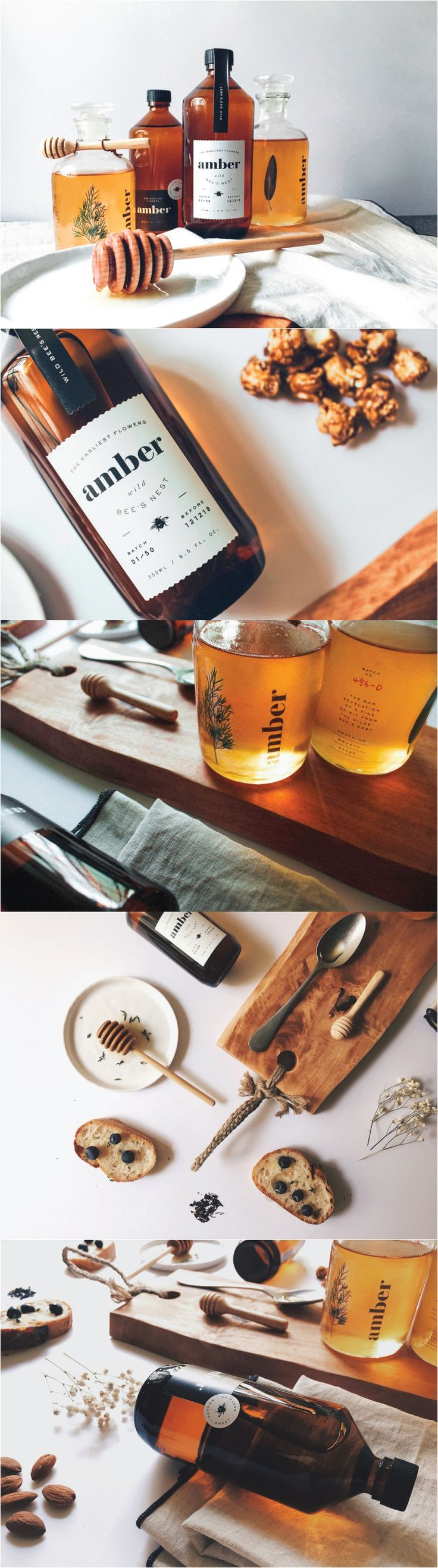 Amber Honey. A must for when having popcorn. #packaging #design (View more at www.aldenchong.com)