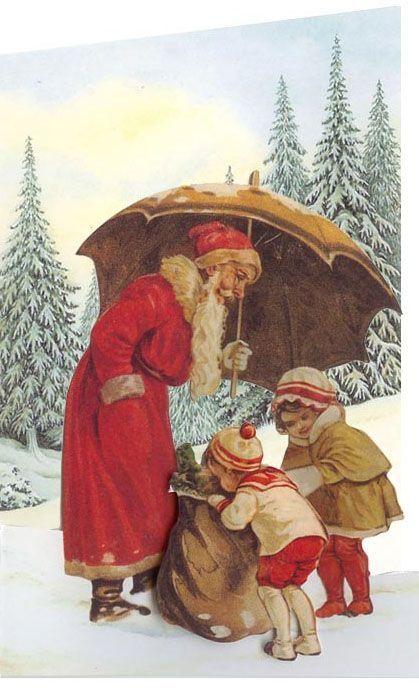 Рождественские винтажные открытки - Ярмарка Мастеров - ручная работа, handmade