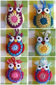 Resultado de imagen para buhos tejidos al crochet