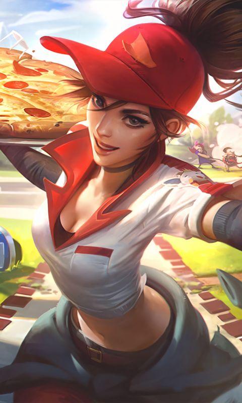 Amumu, League of legends, delivery girl, 480x800 wallpaper