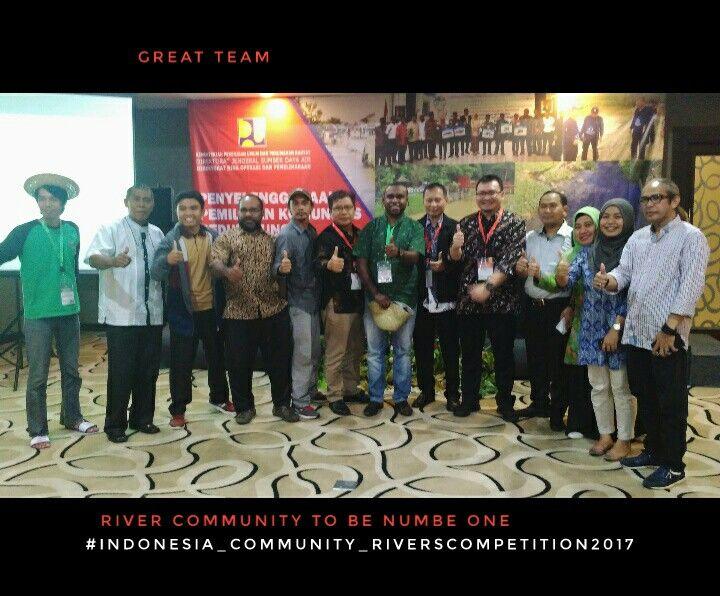 Kelompok masyarakat peduli sungai dari Sabang sampai Merauke, dalam acara pemilihan kelompok masyarakat peduli sungai se-Indonesia tahun 2017