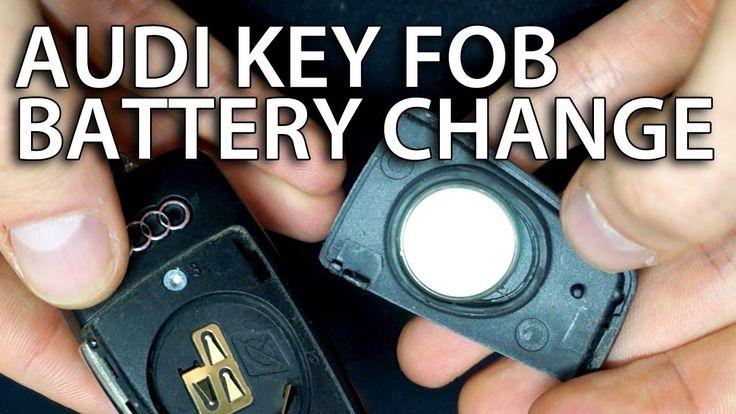 How to change battery #Audi flip key fob remote (A3 #A4 A5 #A6 A7 #A8 Q3 Q5 #Q7 DL2032)