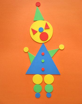 Activities: Make a Triangle-Circle Clown