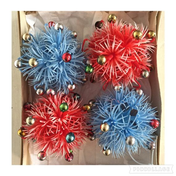 60s Christmas Tree Part - 44: Vintage 50s 60s Christmas Glass Baubles Plastic By SuckMustard