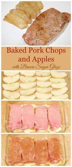 This recipe for baked pork chops and apples with brown sugar glaze is my family's absolute favorite dinner and it's also super easy to make!