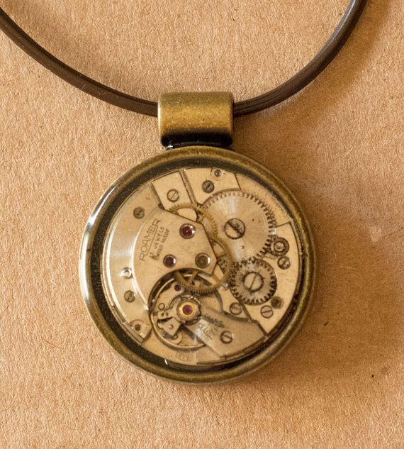 Steampunk Necklace Vintage Watch Parts by KindCreationsCoOp  https://www.etsy.com/shop/KindCreationsCoOp