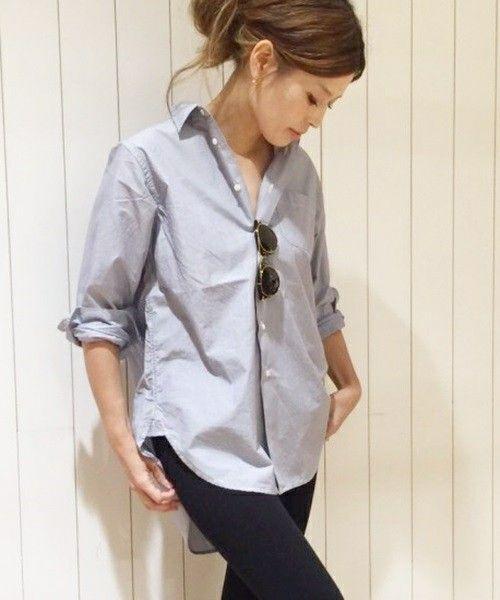 AMERICANA(アメリカーナ)の「AMERICANA ストライプシャツ◆(シャツ・ブラウス)」です。このアイテム着用のコーディネートをチェックすることもできます。