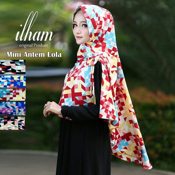 Khimar Mini Motif Cantik Pad Antem Lola by Ilham