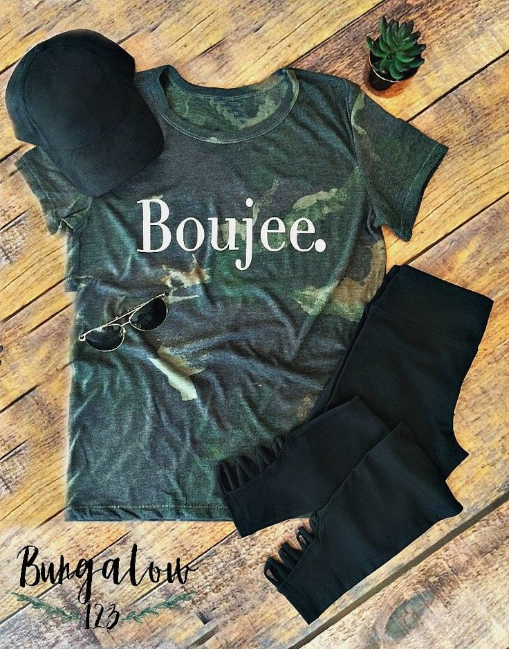 Make your own statement in our exclusive Boujee. Tee in an allover camouflage print. Ultra-soft eco-fabric created with organic and recycled materials. Wash cold/delicate inside out and air dry. This