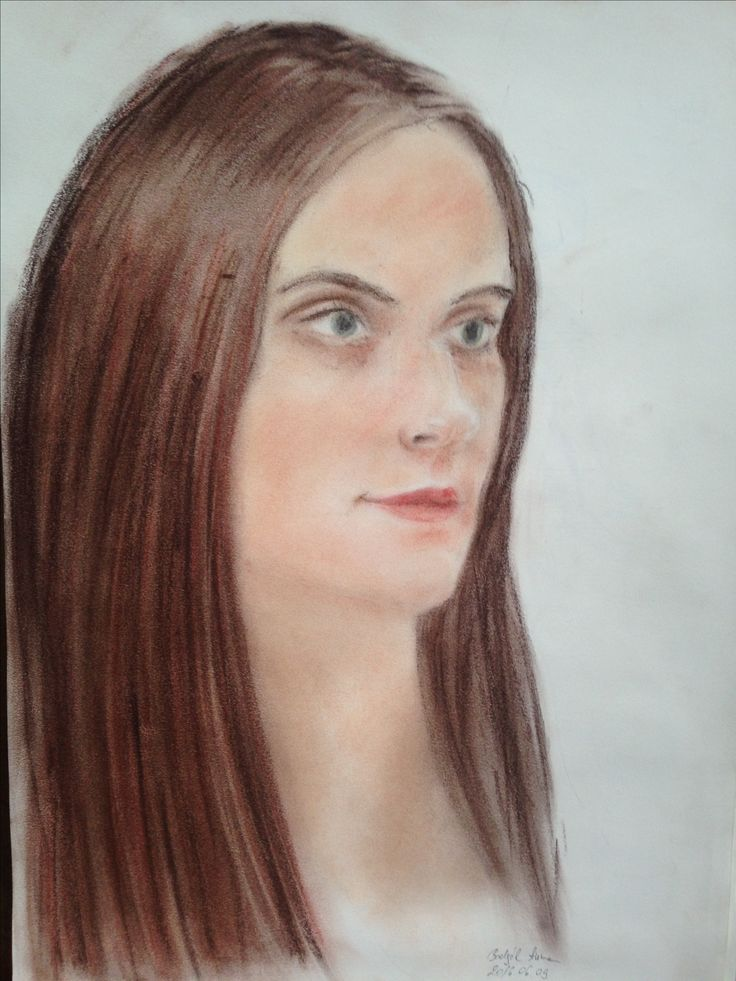 One of my classmates  #drawing #portrait #pastel #color