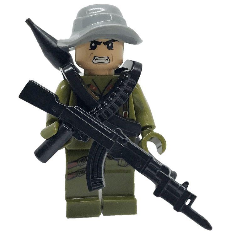 Brick Forces™ CUSTOM Minifigure North Vietnamese Army (NVA) Soldier - Hoang