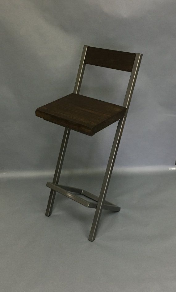 Bar stool X-style with backrest.