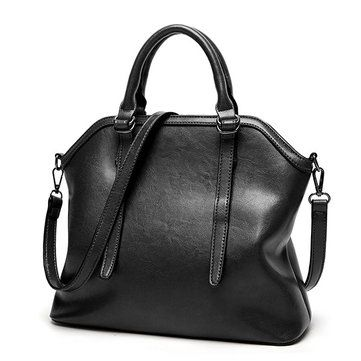 Ekphero Vintage PU Leather Handbag Shoulder Bag Crossbody Bag For Women