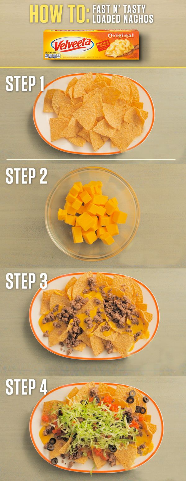 Layering these Fast N' Tasty Loaded Nachos with the extra melty goodness of VELVEETA will make your summer fiesta a bazillion times tastier. Get the full Liquid Gold recipe and more at http://www.kraftrecipes.com/velveeta.aspx