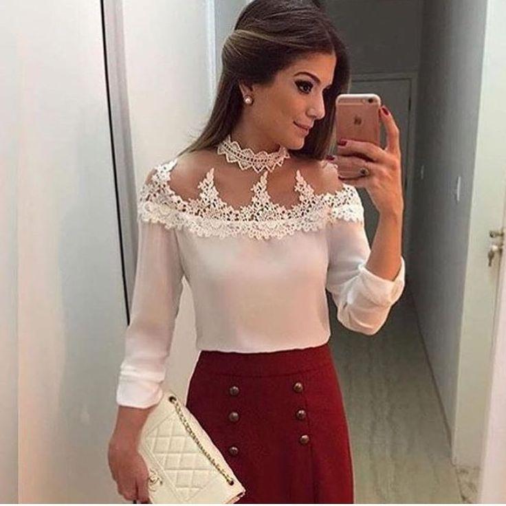 """339 curtidas, 12 comentários - MaBô Boutique (@mabo.boutique) no Instagram: """" Que blusa mais linda, delicada e charmosa!!✨ Também na cor rosa Compre pelo site:…"""""""