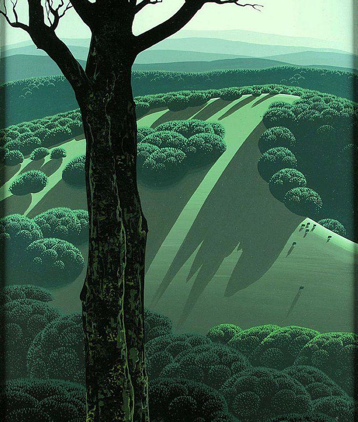 Eyvind Earle :  Style bien original de la nature délivrant certains secrets.