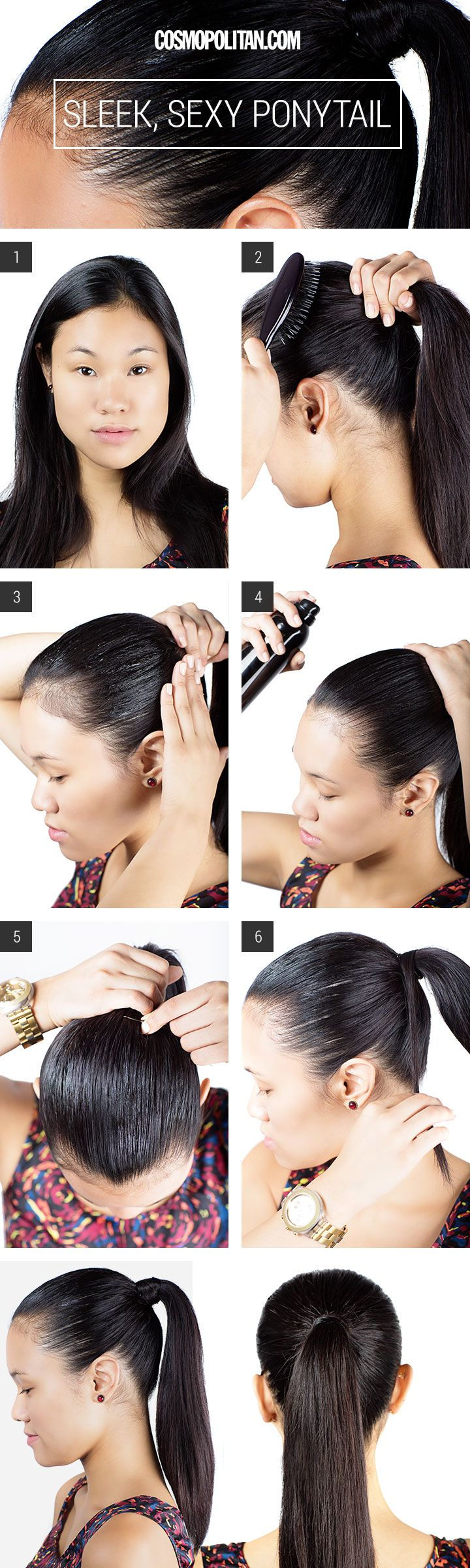 Hair How To Slicked Back Ponytail - How To Create A Sleek Ponytail - Cosmopolitan