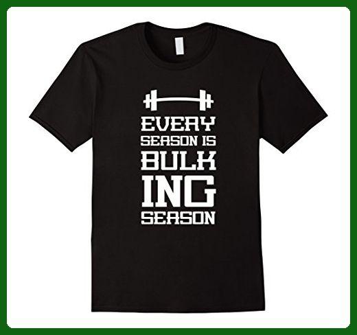 Mens Every season is bulking season Workout Humor T shirt  3XL Black - Workout shirts (*Amazon Partner-Link)
