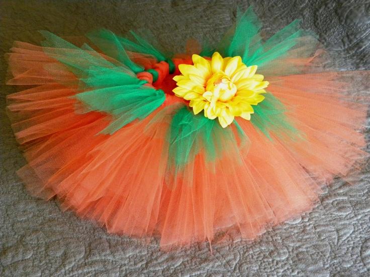 Baby pumpkin tutu with sunflower hair clip for Halloween     Ellie Grace Crafts