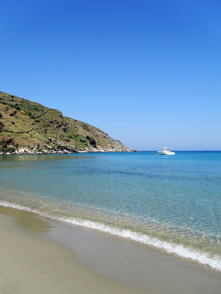 Achla beach in Andros island, Greece