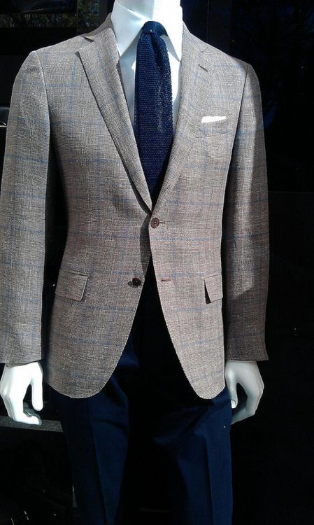 Great Zenga suit-  Very subtle over check.