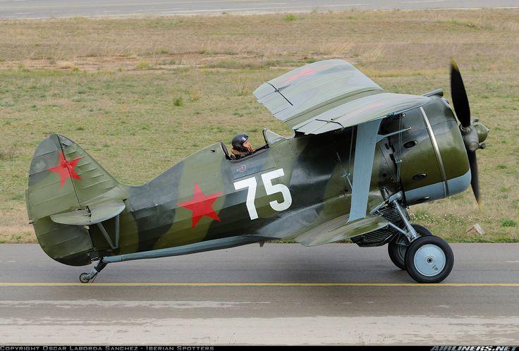 Polikarpov I-153 bi-plane Russian fighter