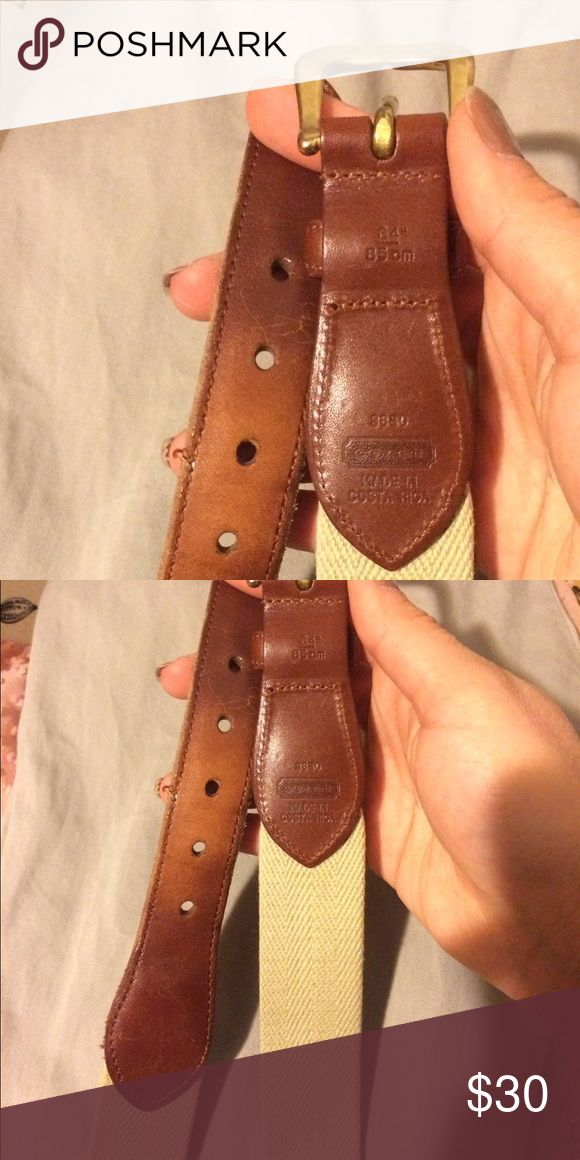 Coach belt Beautiful leather detail on this belt. See pic for sizing. Coach Accessories Belts