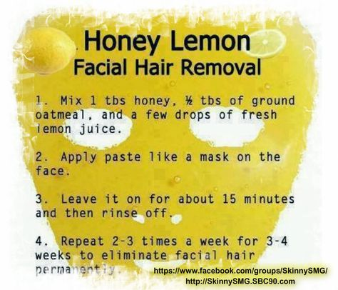 Lemon & Honey Facial Hair Remover