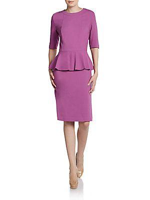 Lafayette 148 New York Dress - Radiant Orchid Pantone #coloroftheyear: Radiant Orchid, Lafayette 148, Wool Jersey, Pantone Coloroftheyear, York, Jersey Peplum, Peplum Dresses