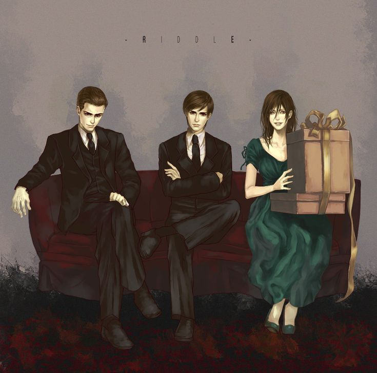 Tom Riddle Sr.,Tom Marvolo Riddle, and Merope Gaunt by Flayu.deviantart.com