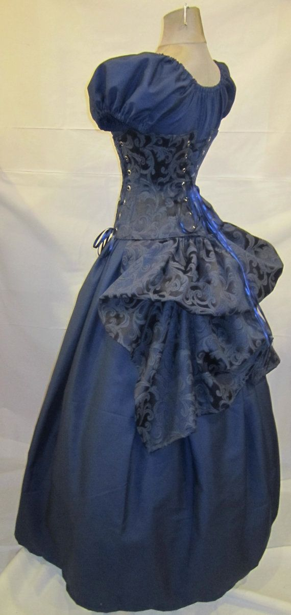 love the corset/bustle combination